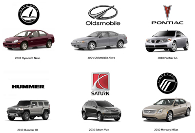 Obsolete automobile brands