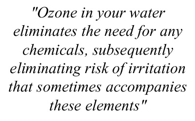 Claim: ozone eliminates the need for any chemicals