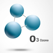 Ozone is a molecule composed of three oxygen atoms
