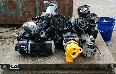 Recycling hot tub pumps