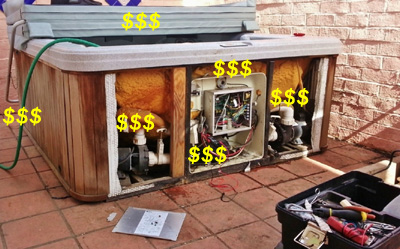 Typical hot tub repair cost